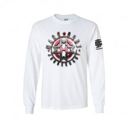 Shield WHite LS Tee